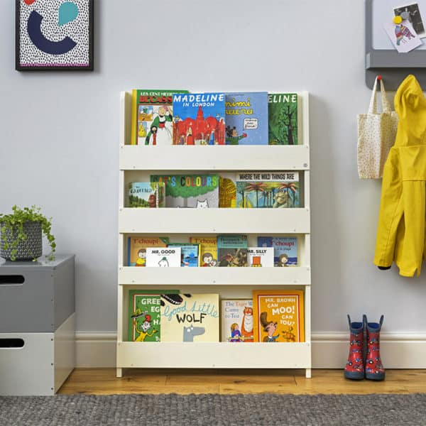 Children's bookcases, Tidy Books, Tidy Books Children Bookcases, kids bookcases, The Tidy Books Kids Wall Bookshelf Ivory