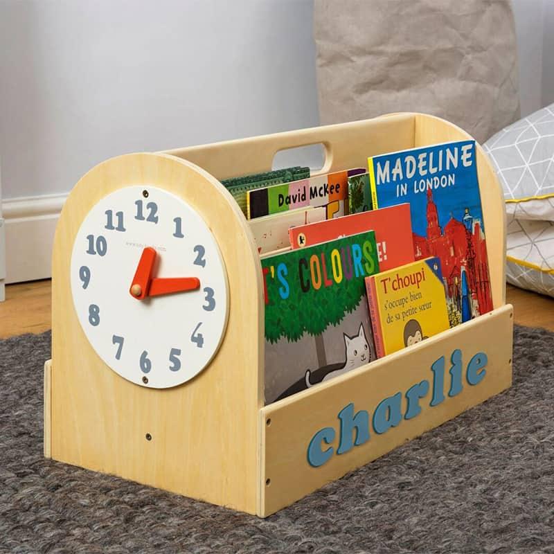 Tidy Books Children's Book Storage Box, Children's Book Storage Box, Tidy Books Book Box, Book Box, Tidy Books Box, Tidy Books Personalised Wooden Box Natural, Personalised Wooden Book Box