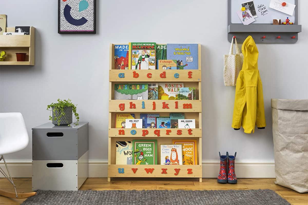 Children bookcases, Tidy Books, Tidy Books Children Bookcases, kids bookcases, The Tidy Books Montessori Bookshelf with Alphabet