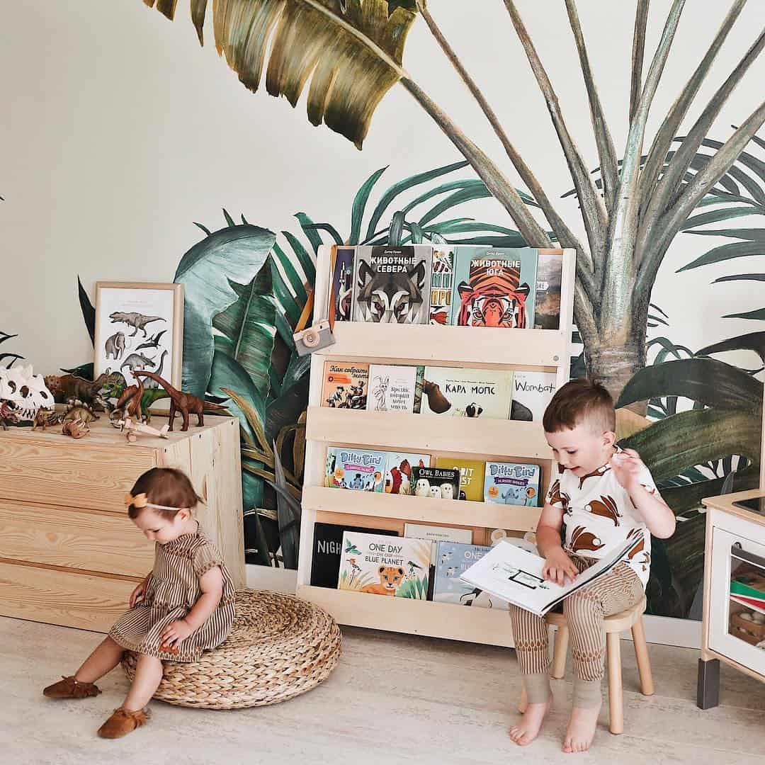 Quand « moins c'est plus ». Des bibliothèques pour enfants durables et intemporelles. Credit @irina_pushko