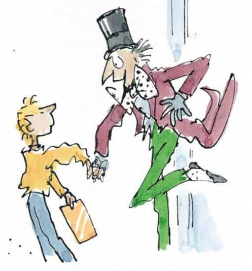 Charlie et la chocolaterie par Roald Dahl. Illustration de Quentin Blake